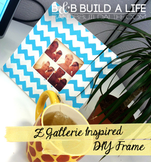 Chevron Frame inspired by Z Gallerie from BAndBBuildALife