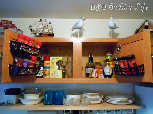 Spice Cabinet Storage Solution @ BandBBuildALife.com