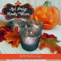 Spooky Mod Podge Candles