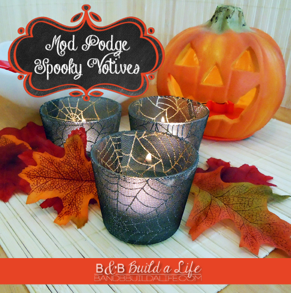 Spooky Votives from BAndBBuildALife.com