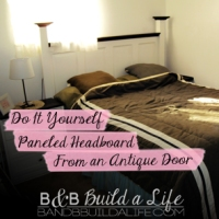 If the Door is a knockin' ~ A DIY Headboard