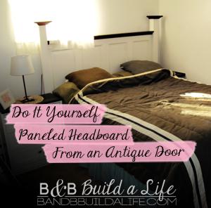 DIY Headboard @ BandBBuildALife.com