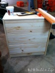 Our little RASTafari after a good sanding and puddy job to fill in all the holes from the original drawer pulls.