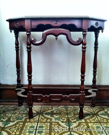 Beautiful curvy console table