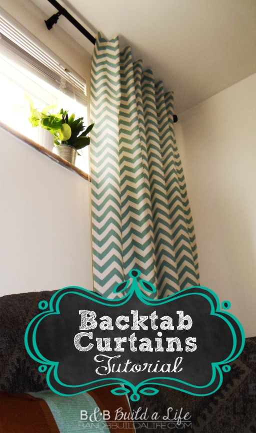 Back Tab Curtains Tutorial @ BandBBuildALife.com