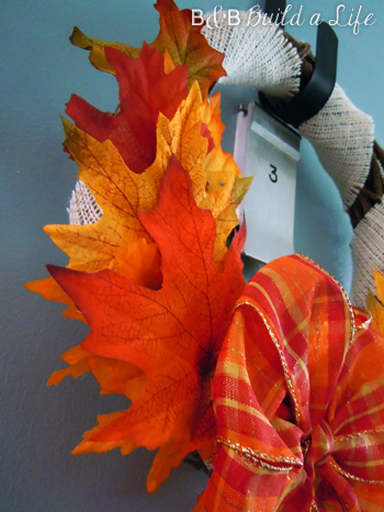 foliage wreath for fall 2012 @ BandBBuildALife.com