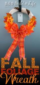 Fall Foliage Wreath @ BandBBuildALife.com