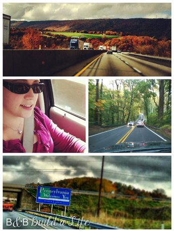 Driving from DC to Pittsburgh @ BandBBuildALife.com