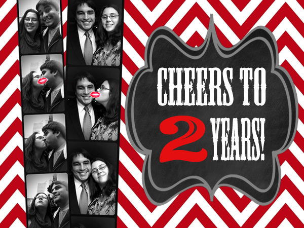 Cheers to 2 Years of Love! @ BandBBuildALife.com