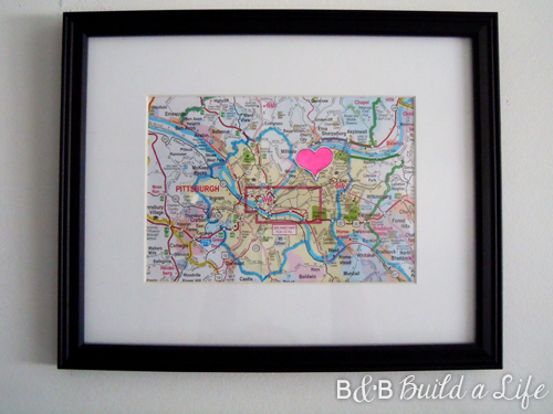 Pittsburgh love map @ BandBBuildALife.com