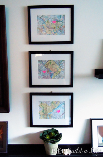 Map Art Lovin' @ BandBBuildALife.com