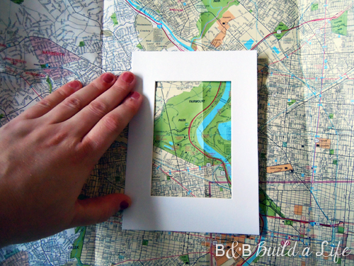 frame out your favorite map @ BandBBuildALife.com