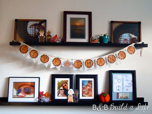 Easy Thanksgiving Decor @ BandBBuildALife.com