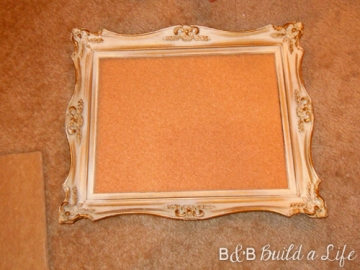 fitting the cork into the frame @ BandBBuildALife.com
