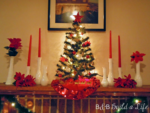 2012 Christmas Milk Glass Mantle