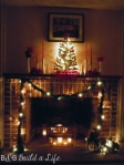 2012 Christmas Milk Glass Mantle @ BandBBuildALife.com