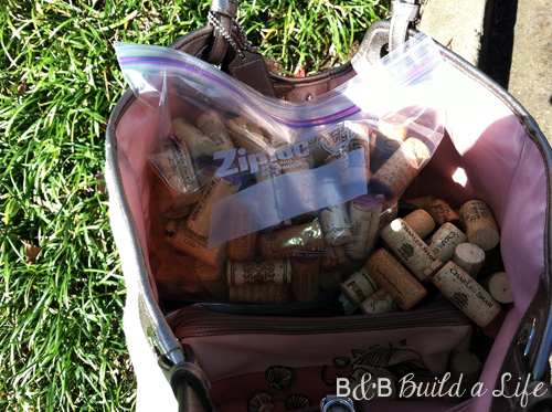 wine cork recycling @ BandBBuildALife.com