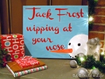 Jack Frost Nipping at Your Nose Christmas Carol art @ BandBBuildALife.com
