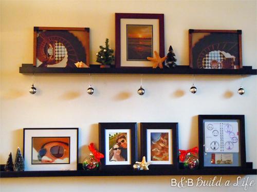 disco ball ornaments and starfish @ BandBBuildALife.com
