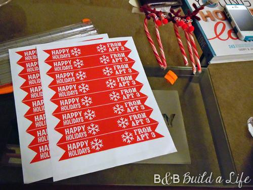 rudolph candy cane treat tags @ BandBBuildALife.com