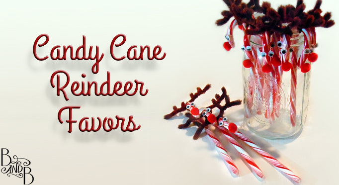 Rudolf Candy Cane Treats from BandBBuildALife.com