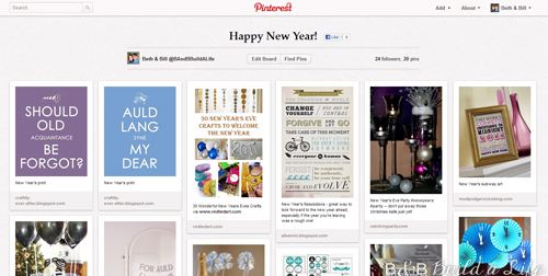 New Years 2013 Ideas on Pinterest @ BandBBuildALife.com