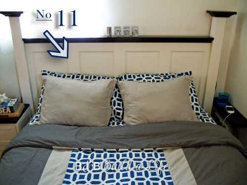 Number 11 - make a headboard from an old door @ BandBBuildALife.com
