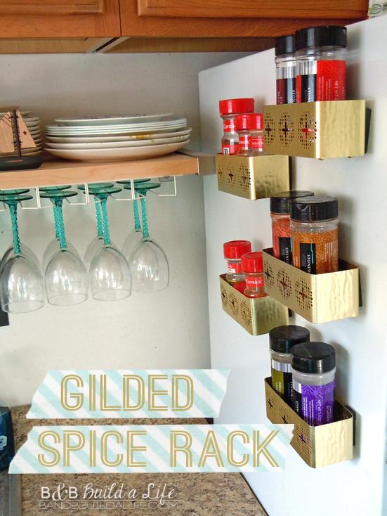 pinworthy gilded spice rack @ BandBBuildALife.com