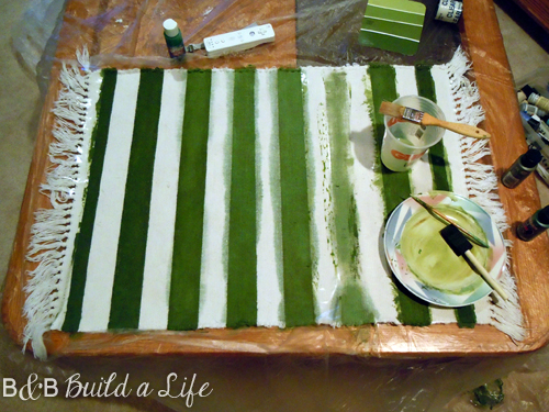 painted rug craft fail @ BandBBuildALife.com