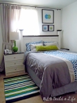 adding pop color green to our bedroom @ BandBBuildALife,com