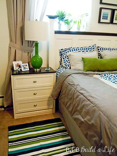 Homegoods green lamp @ BandBBuildALife.com