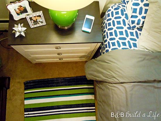 adding pop color green to our bedroom @ BandBBuildALife,com