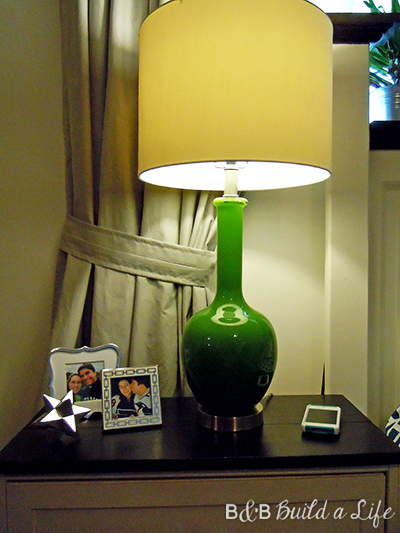 green homegoods lamp @ BandBBuildALife.com