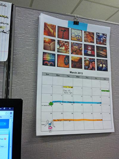 printable instagram calendar @ BandBBuildALife.com