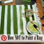 craft fail paint rug @ BandBBuildALife.com