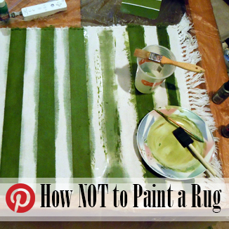 craft fail paint rug @ BandBBuildALife.com