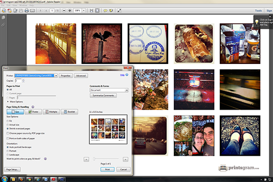 using printsgram.com to create custom prints @ BandBBuildALife.com
