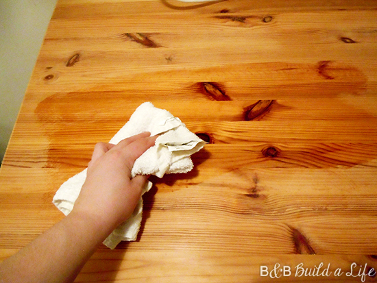 butcher block care and cleaning @ BandBBuildALife.com