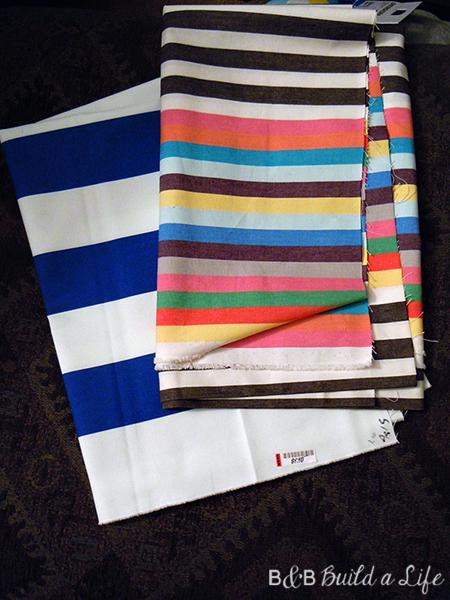 stripe pillow @ BandBBuildALife.com