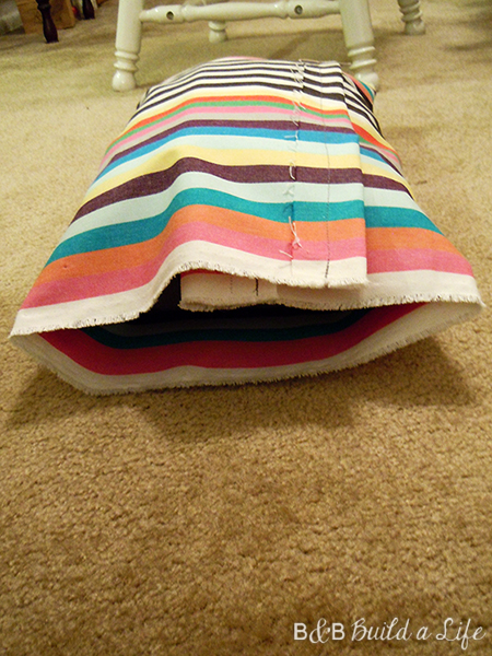 stripe pillow @ BandBBuildALife.com
