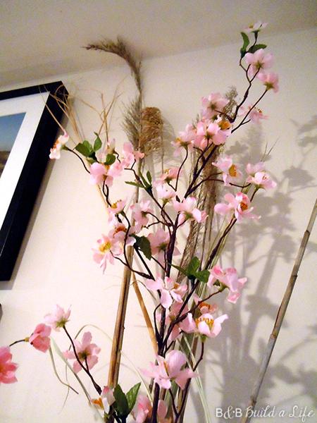cherry blossom pink spring mantle @ BandBBuildALife.com