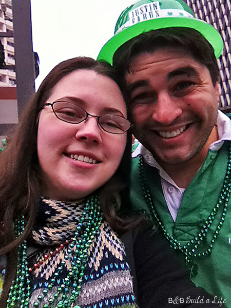 beth and bill St Paddy's Day @ BandBBuildALife.com