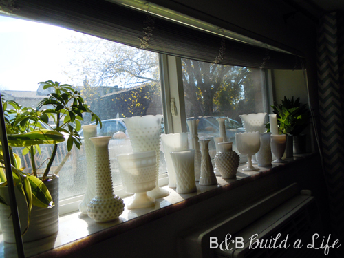 milk glass gallery @ BandBBuildALife.com