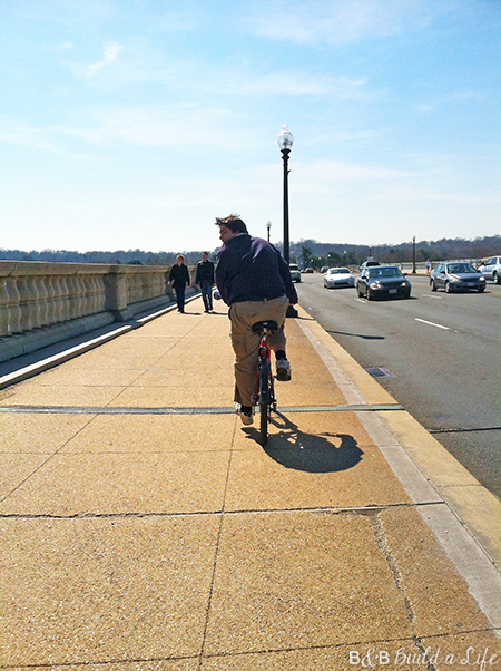 biking in DC @ BandBBuildALife.com