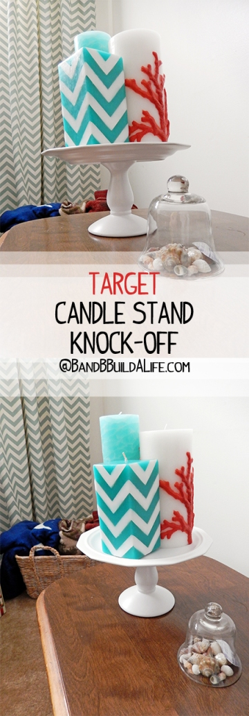 knock off decor target candle stand PIN @ BandBBuildALife.com