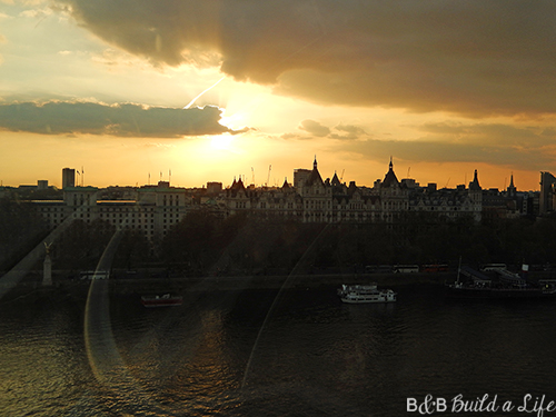 London Eye at Sunset Visit @ BandBBuildALife.com