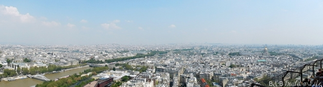 view from the Eiffel Tower @ BandBBuildALife.com