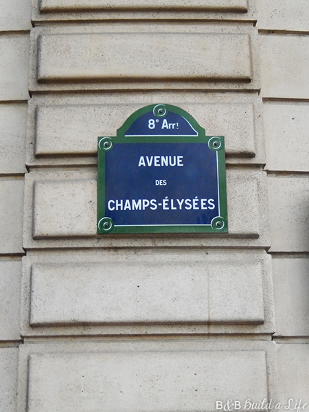 Shopping on the Champs-Élysées @ BandBBuildALife.com
