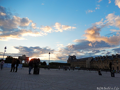 Louvre Museum at Sunset @ BandBuildaLife.com