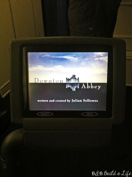 in flight entertainment Downton Abbey @ BandBBuildALife.com
